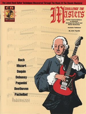 Challenge the Masters Neo-Classical Shred Guitar TAB Music Book & CD