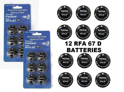 PetSafe ® Compatible RFA-67 & RFA-67D-11 Replacement Battery 2 x 6 Packs