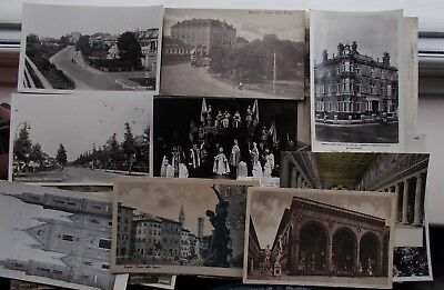 Large Lot Of Old Postcards C.1904  Uk & Europe Topographical Street Scenes (62)