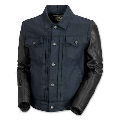 Roland Sands Design Honcho Men's Denim/Leather Jacket, S