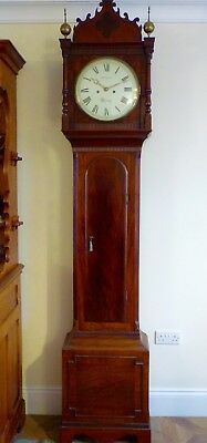 GENUINE REGENCY MAHOGANY 8 DAY LONGCASE CLOCK by R.TAYLOR of READING
