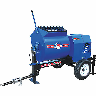 Marshalltown 800MP8HPO 8HP Gas Mortar/Plaster Mixer w/Pintle Tow and Outriggers
