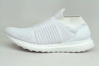 ac554edc886 Adidas UltraBoost Laceless Triple Running White Mens Size Shoes S80768  1801-43