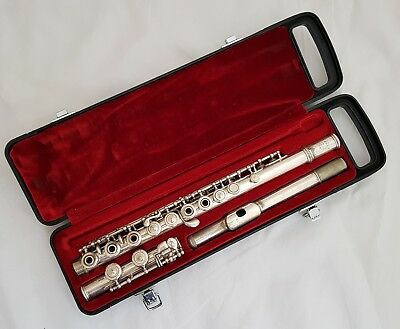 Antique French Silvered Flute by L.L.Lebret Paris Depose 5678-open holes-ca.1920