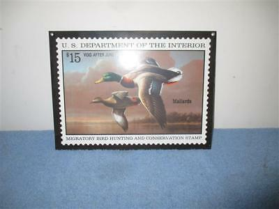 Vintage Porelain Mallards US Migratory Bird Hunting And Conservation Stamp 9 1/4