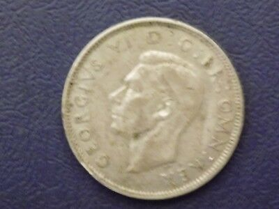 Great Britain 1941 Two Shillings  Silver  Coin