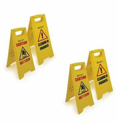 Twin Pack Caution Wet Floor Sign Cleaning In Progress Yellow Warning Cone