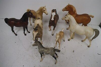 Vintage lot of 8 Breyer's Horses including 99 Appaloosa performance, 94 Belgian+