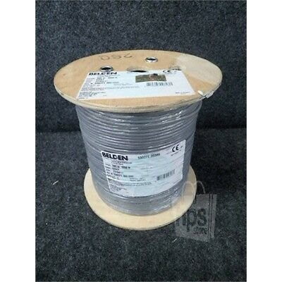 Belden 5302FE.00305 Communications Cable, 1000ft Spool, 18/4, STR, Gray*