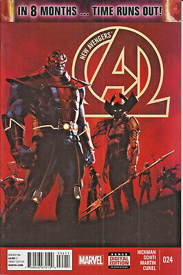 New Avengers #24 Marvel Thanos Illuminati Dr Doom Black Panther Hulk Hickman VF