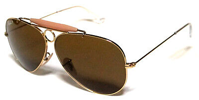1b5d54826b Ray Ban 3138 62 Shooter Gold Gold B15 Polarized Brown Customized Remix Sole