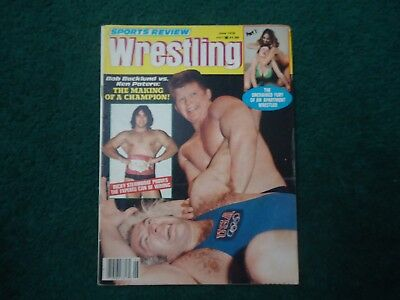 Sports Review Wrestling Magazine June 1978 Backlund v Patera Steamboat