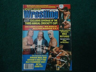 Sports Review Wrestling Magazine Aug 1988 Luger Sting Magnum TA