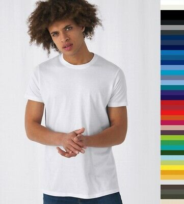 5er Pack Herren Regular Fit T-Shirt B&C E150 XS-5XL Baumwolle ÖkoTex TU01T NEU