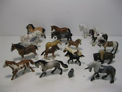 Assorted Schleich Animals, Horses, Bison, Penguin, Unicorn, Pinto + More