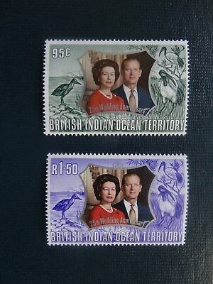 British Indian Territory  1972  SG45/46  Set  MNH