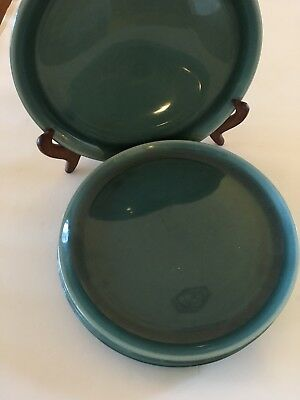 4 Russel Wright Steubenville Seafoam Green 10 inch Dinner Plates