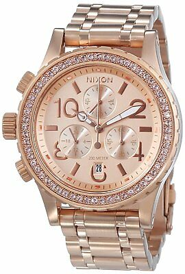 Nixon Women's A404-897-00 38-20 Chrono, All Rose Gold 38mm Watch A404897