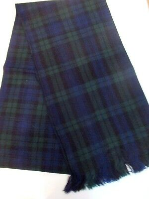 """Ladies or Mens Black Watch Sash  88"""" X 11"""" New With Defect"""