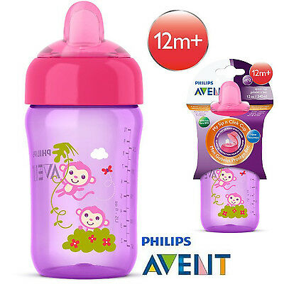 Toddler Baby Infant No Spill Spout Sippy Cup 12 Ounce 12+ Pink By Philips Avent