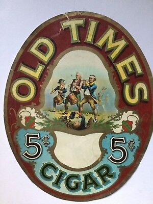 Old Times 5 Cent Cigar Sign