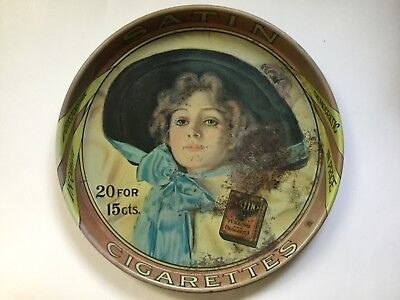 Satin Cigarette Advertising Tray.