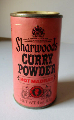 Dose, vintage, Sharwoods Curry Powder hot, Altrosa
