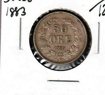 Sweden 50 Ore 1883 Choice XF