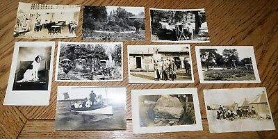 Vintage Lot of 10 Real Photo Post-Card, Nice 1920's Images.