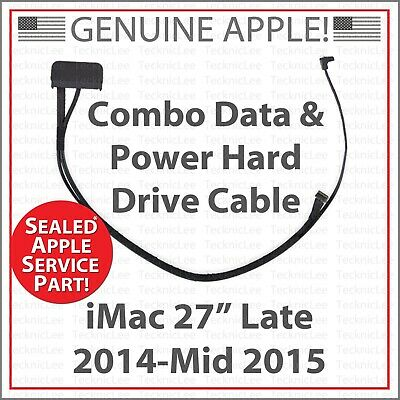 """NEW Apple 923-00092 Combo Data & Power Hard Drive Cable for iMac 27"""" 2014-2015"""
