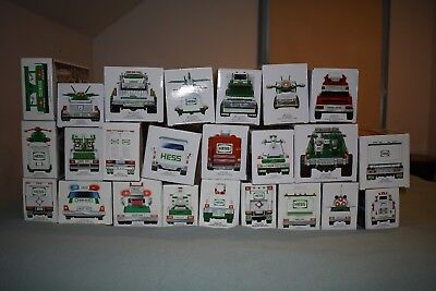 Hess Truck Collection Lot of 24 toy trucks - 1992 to 2015