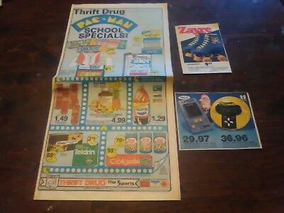 Pac man lot of newspaper advertisements 1980s vintage video game ads