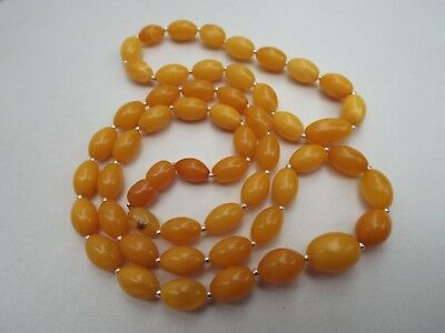 Natural Baltic amber necklace and bracelet set - 18.2 grams