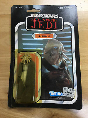 Star Wars Return of the Jedi Figure Squid Head Unopened MOC Kenner Rare 1983