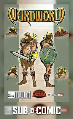 WEIRDWORLD #1 DEL MUNDO DESIGN VARIANT (MARVEL 2015 1st Print) COMIC