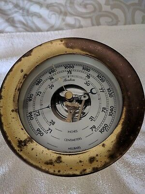 Boston Chelsea Nautical Barometer USA Vintage
