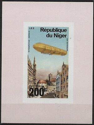 Niger - C276 200fr Zeppelin airmail imperf proof mint - 1976