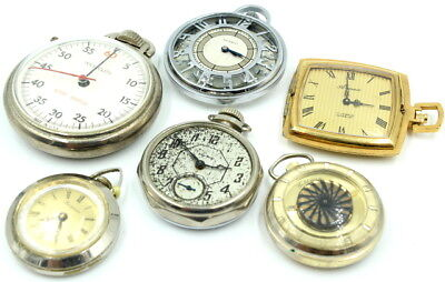 Vintage Lot Of 6 Pocket Watches Swiss Made - No Reserve #6 Js
