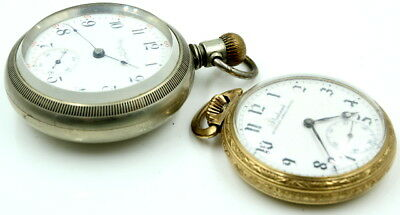 Vintage Lot Of 2 Us Made Pocket Watches Plymouth - No Reserve #3 Js
