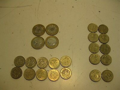 Lot British Pounds Sterling 28 Foreign Currency