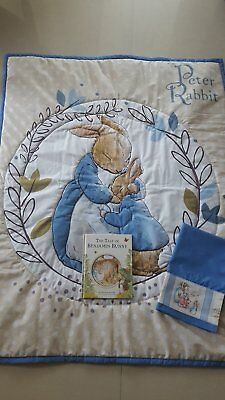 Peter Rabbit Cot Quilt- Lovely /  2 Sided