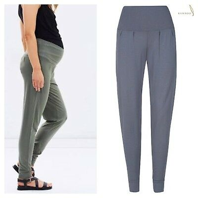 Bamboo Body Slouch Maternity Pants Size L (14) soft comfy yoga pilates exercise