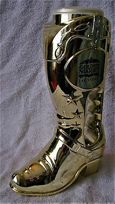 Rare - Las Vegas - Golden Nugget - Golden Cowboy Boot - Heavy Plastic Bank