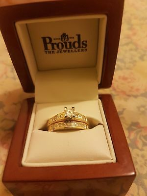 princess cut engagement and wedding ring set
