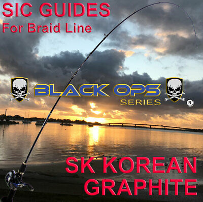 Black-Ops Carbon 6'6' Baitcast Fishing Rod great for Snapper,Bream,Whiting etc..