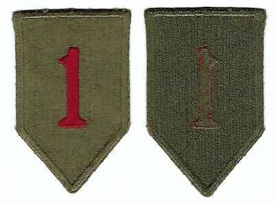 1st Infantry Division Green Back Patch SSI WW2 Original U.S. Army Big Red One