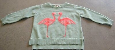 Seed Heritage Girls Jumper / Knit With Pink Flamingos  Sz 1 - 2