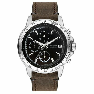 S.oliver Men's Wristwatch Leather SO-3487-LM