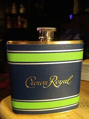 Crown Royal Stainless Steel 6 Fluid Ounce Flask SEAHAWK EDITION