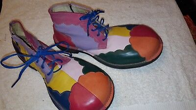 All-leather professional clown shoes Men's 7/Ladies' 9 Made by Billy Prince